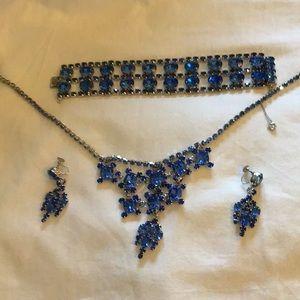 Jewelry - Blue Rhinestone Set